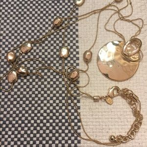 Chicos Gold Medallion Necklace